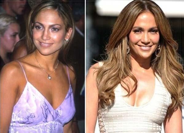 Extensões de cabelo na Jennifer Lopez