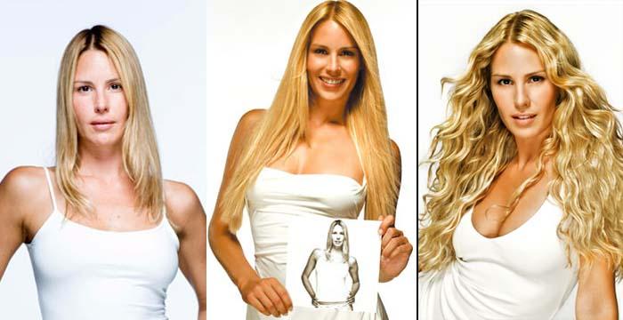 Extensões de cabelo loiro