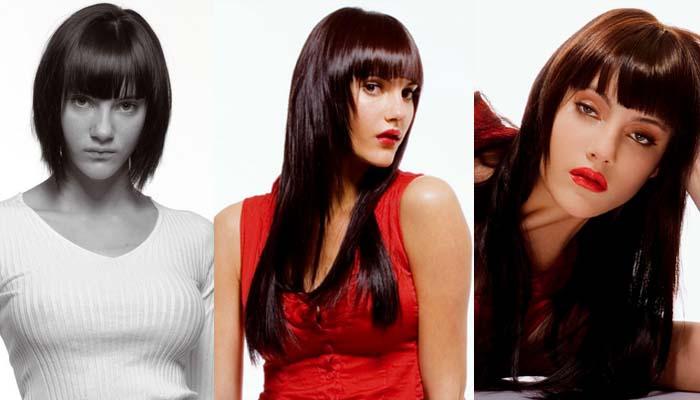 Extensões de cabelo na escuro